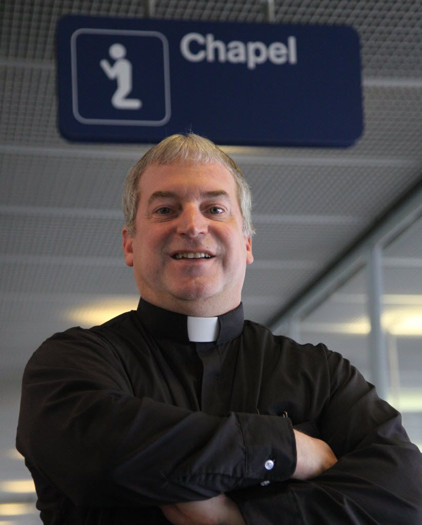 Rev. Mike Zaniolo, the full-time chaplain at O'Hare Airport. | Tim Boyle/ Sun-Times
