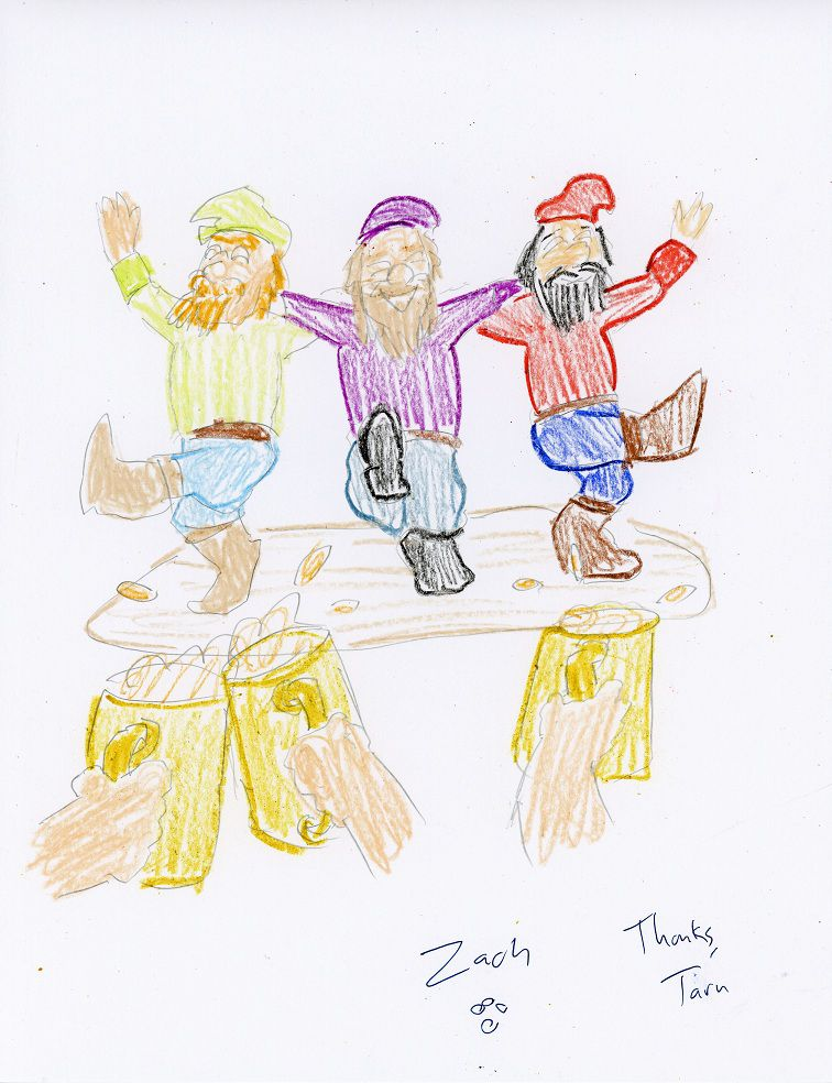 Fans who donate to Bay 12 Games can request hand-made art, produced in crayon by Tarn and Zach Adams.