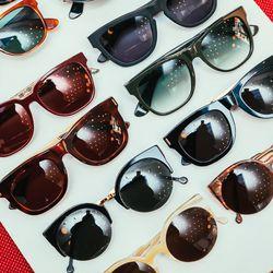 """Assorted sunglasses, including <b> Super</b> Ciccio Frances (<a href=""""http://www.sigersonmorrison.com/CICCIO-FRANCES-p-19822-s-62787-col-305-cat.html#.UynGSa1dVr0"""">$240</a>) and Lucia sunglasses <a href=""""http://www.sigersonmorrison.com/LUCIA-p-20105-s-660"""