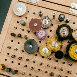 Each one of these burs and wheels manipulates metal differently - they polish, create settings, carve metal, clean edges and create different finishes.