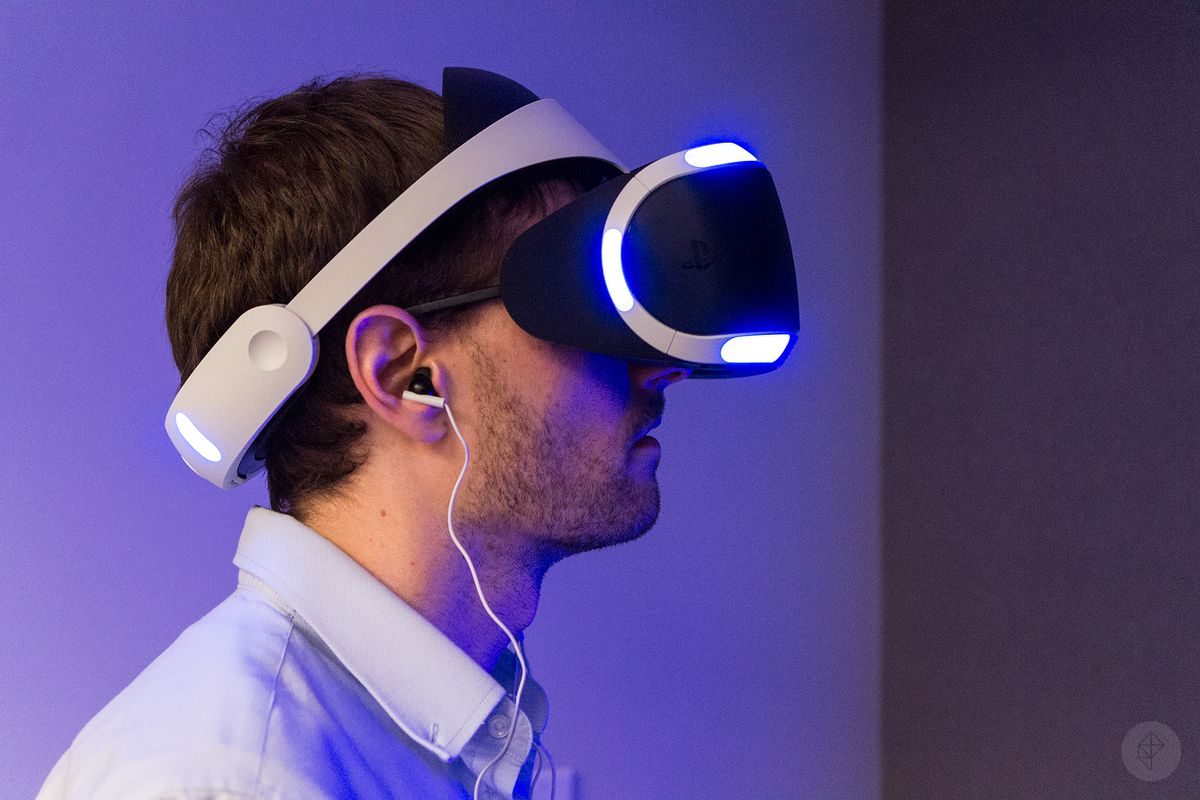 PlayStation VR - Russ wearing headset