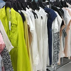 """Equipment's racked offered both Homme (starting at <b>$30</b> and Femme (starting at <b>$50</b>) silk shirting. There were also cashmere sweaters (<b>$75</b>) and """"irregular"""" (read: slightly damaged) sweaters for <b>$25</b>."""