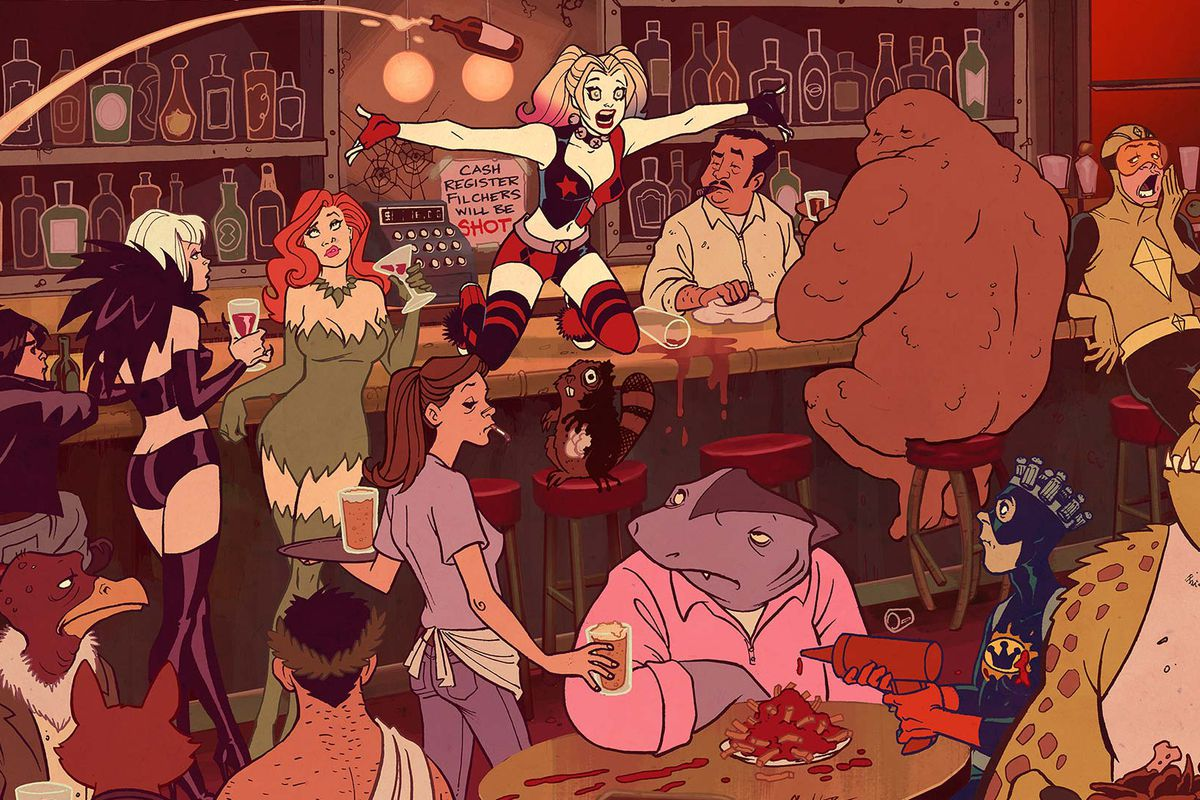 Harley Quinn at the bar
