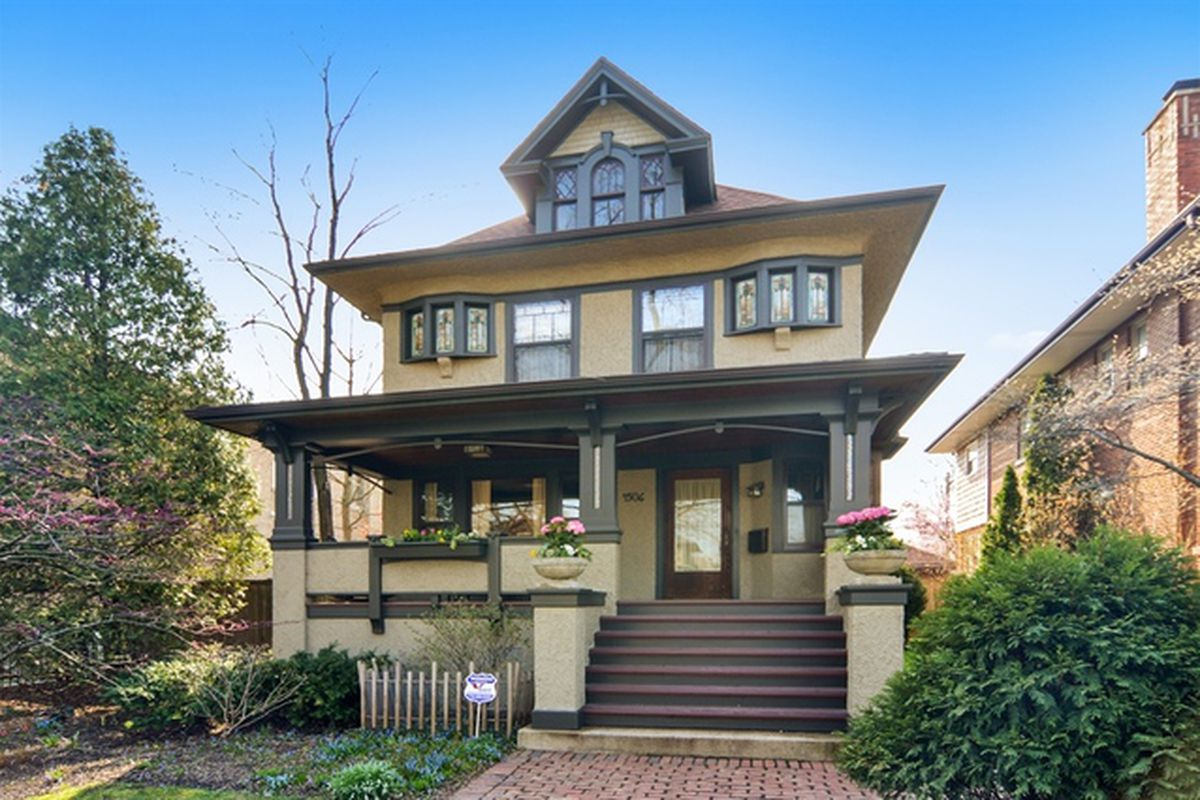 Tastefully updated foursquare in ravenswood asks for American foursquare homes for sale