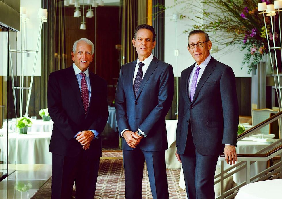 Kenneth Himmel, Thomas Keller, and Stephen Ross at Per Se