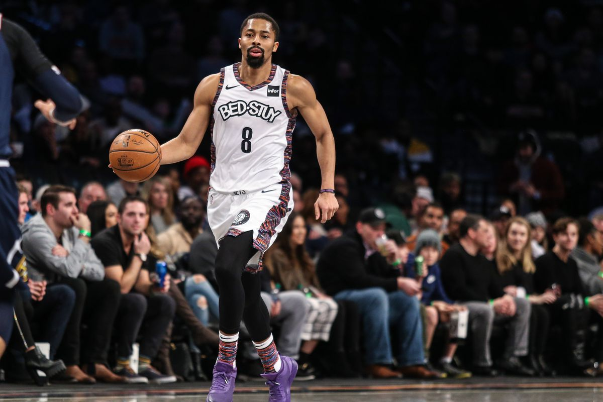 Brooklyn Nets guard Spencer Dinwiddie at Barclays Center.