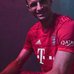 Thomas Muller in the new 2019/2020 kit.