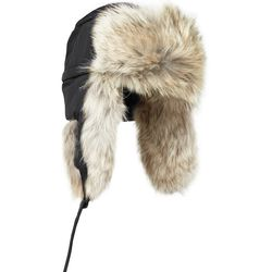 """<a href=""""http://www.mrporter.com/en-us/mens/canada_goose/aviator-coyote-trimmed-trapper-hat-/458818"""">Canada Goose hat</a>, $250 <br>""""We wouldn't recommend wearing this at the same time as your Canada Goose parka––someone may mistake you for Donald Trump."""