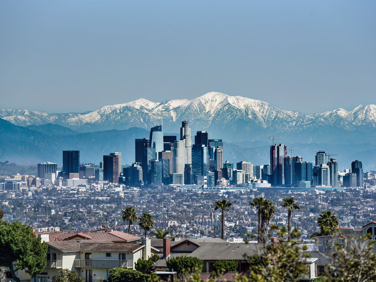 One of the coldest months in decades, February brought snow and other unusual weather to many LA communities.
