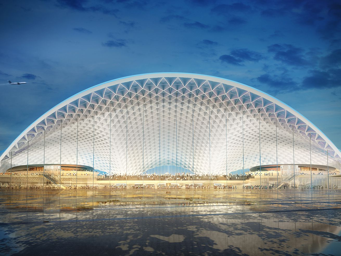 A rendering of the O'Hare Global Terminal by Foster Epstein Moreno JV.