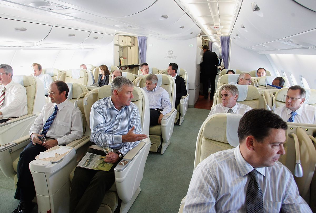 Businessmen airplane