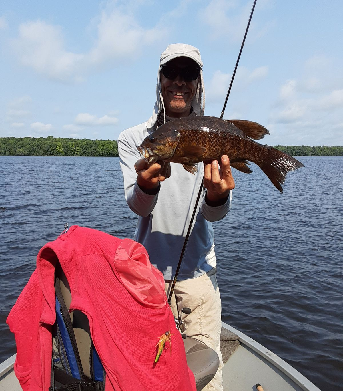 Rob Abouchar with a Wisconsin River smallmouth bass. Provided photo