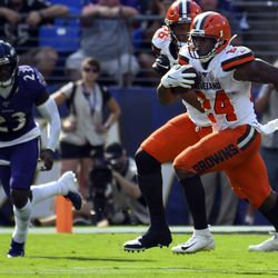September 2019: The highlight moment of the Browns' 2019 season came when RB Nick Chubb, in M&T Bank Stadium, but the dagger in Baltimore with an 88-yard touchdown run in the fourth quarter. The Browns would go on to win 40-25, and both Cleveland and Baltimore were 2-2 at the time, tied for first place in the AFC North. The Ravens would go 12-0 the rest of the season, while Cleveland would go 4-8.