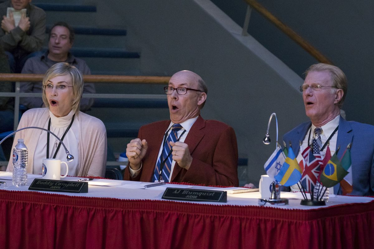 jane lynch, don lake, and ed begley jr. in mascots