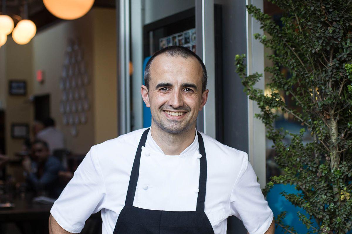 Chef Jose Chesa stands outside his restaurant, Ataula