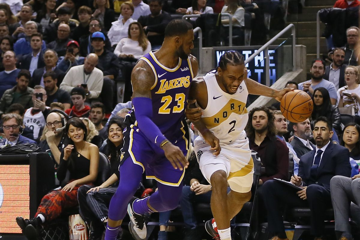 350981046a8 LeBron James apparently told soon-to-be NBA free agent Kawhi Leonard  we ll  be in touch  after Lakers lost to Raptors