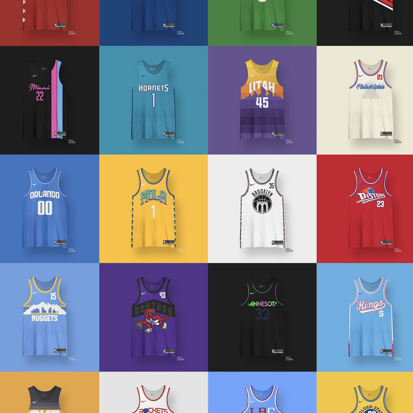 Nba Jersey Redesign A New Jersey For Each Nba Team Fake Teams