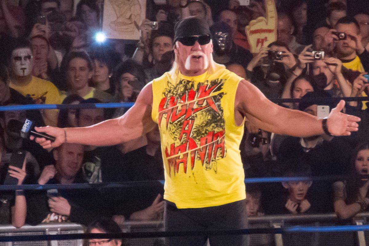 Hulk Hogan's left hand has seen better days