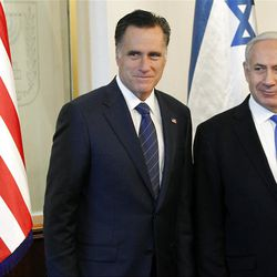 Mitt Romney meets with Israel's Prime Minister Benjamin Netanyahu in Jerusalem in July.
