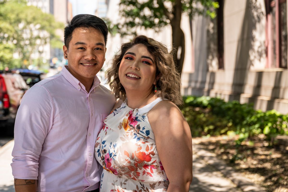 Jarenth De Leon and Alexia Alurralde enjoy their first moments of marital bliss after tying the knot at City Hall on Friday, July 23, 2021.
