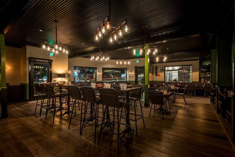 mixtape bar seating low lights dining area