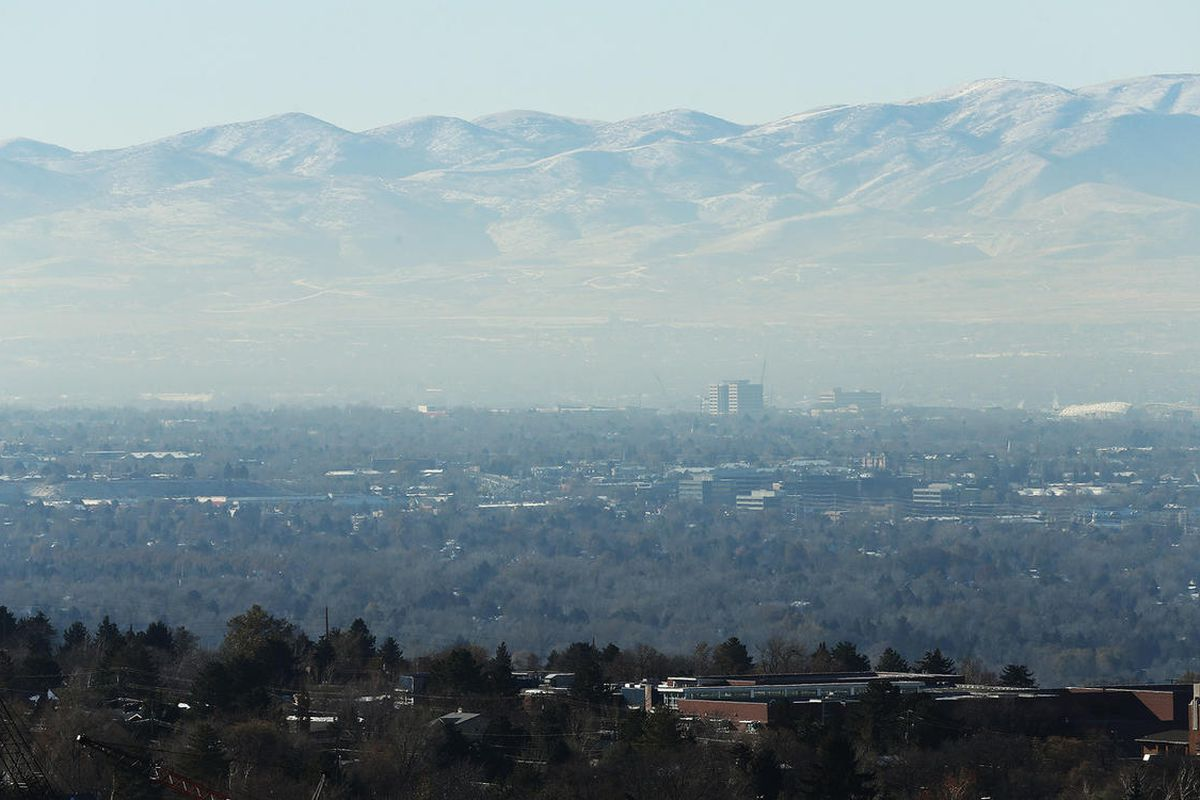 FILE — The inversion settles over the Salt Lake Valley Tuesday, Dec. 1, 2015.