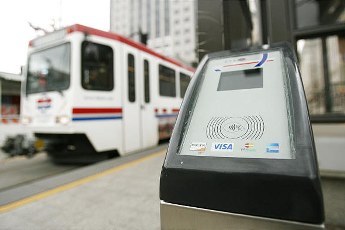 """UTA is going to start using an electronic fare-collection system in which riders will """"tap on"""" when they board a bus or train, and the fare will be charged."""