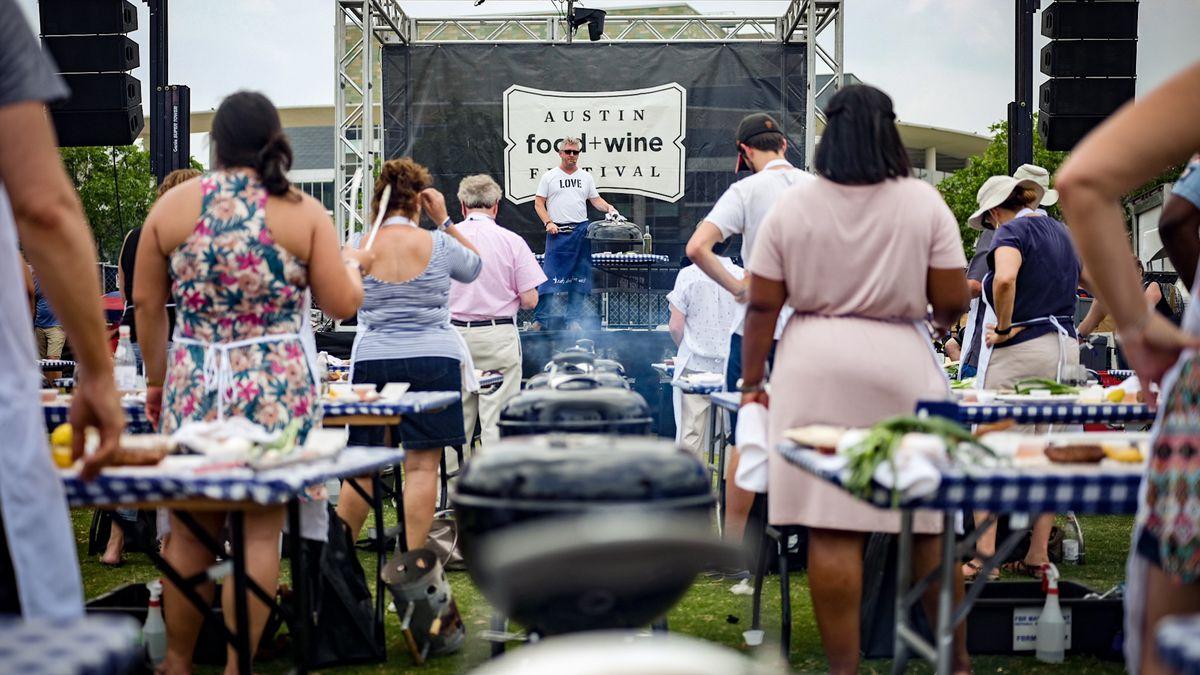Tim Love's giant grilling demo at Austin Food & Wine Festival
