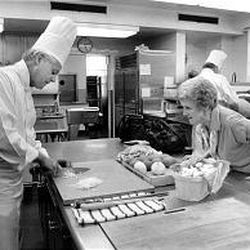 Jardine interviews chef Henry Haller at the White House in 1978.