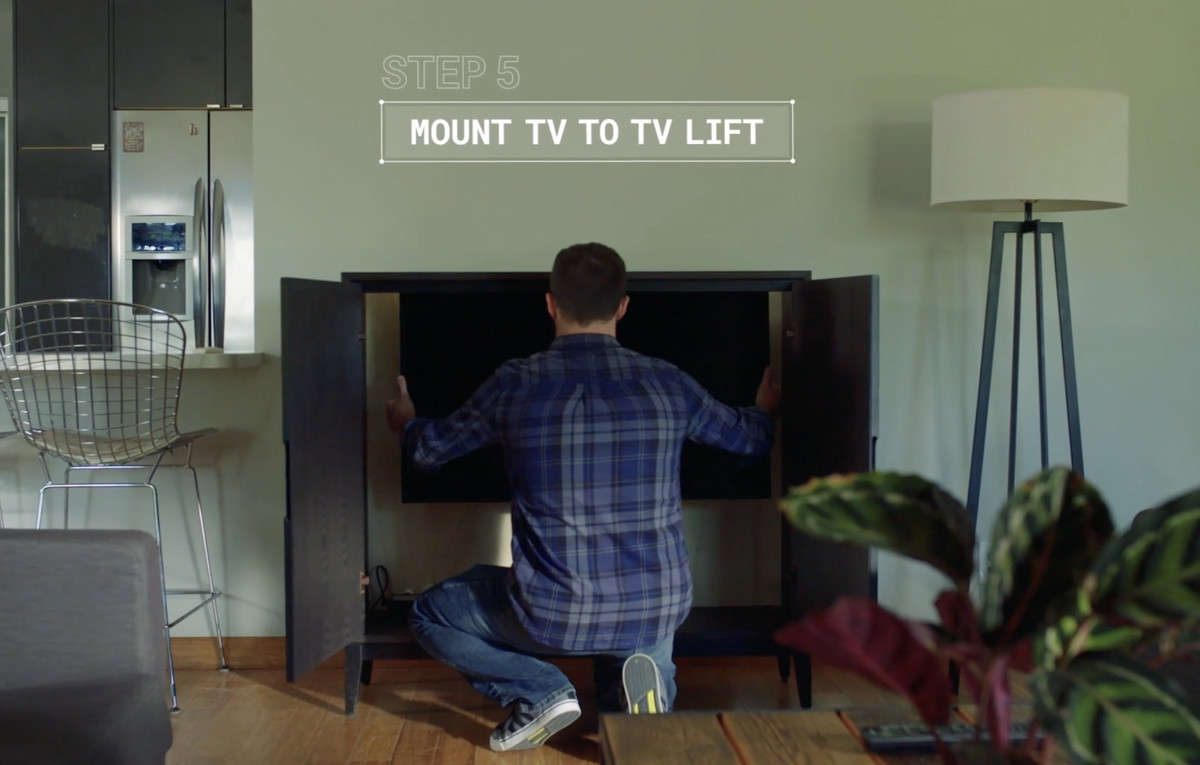 Step 5 Mount The Tv To Lift