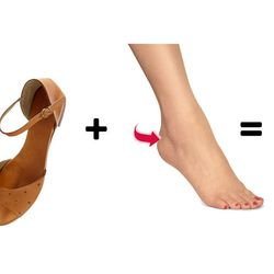 """<b>Side of the heel:</b> These side-heel blisters tend to occur when you wear leather shoes and no socks. Luckily, these <a href= """"http://www.drugstore.com/products/prod.asp?pid=79971&catid=59963&aid=338666&aparam=goobase_filler&device=c&network=g&matchty"""