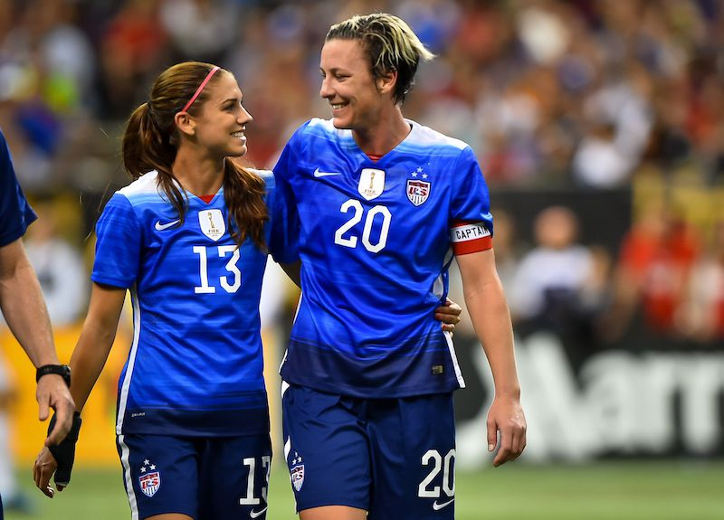 06d942a5e Lesbian icons honored with jerseys worn by USWNT - Outsports