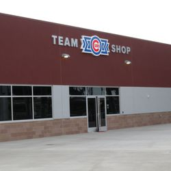 This is the main team shop, in the right-field corner