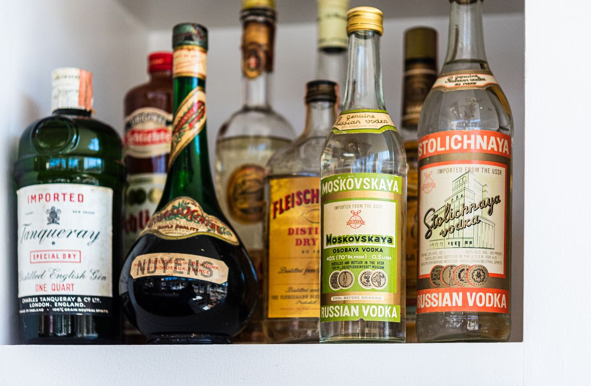 Spirits on display at the Imperial