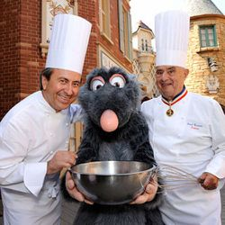 """Boulud just loves those funny hats. (<a href=""""http://nymag.com/tags/paul bocuse/"""" rel=""""nofollow"""">photo</a>)"""