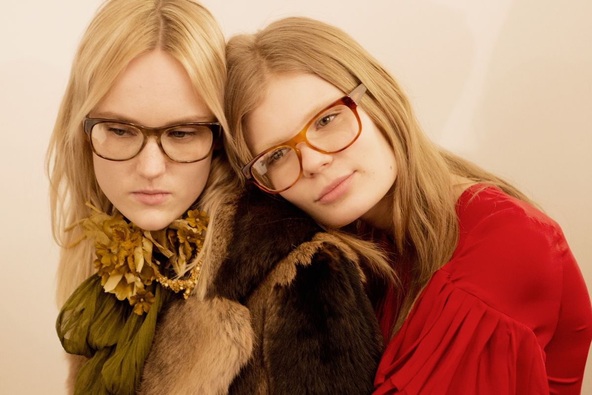 Backstage at Gucci's fall 2015 show. Photo: Ewan McLuada/Getty Images
