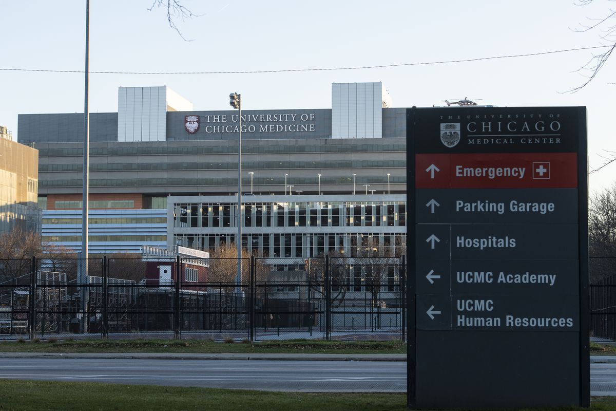 The University of Chicago Medicine located at 5841 S. Maryland, in the Hyde Park neighborhood.