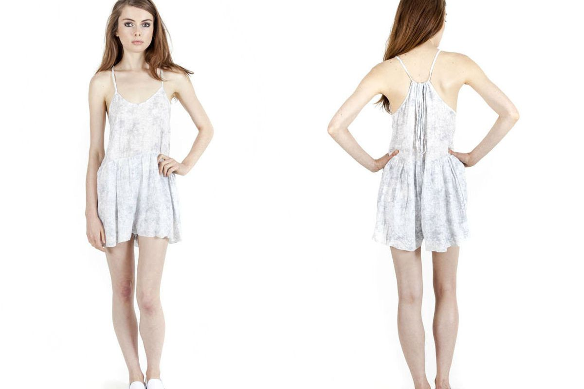 """d.RA Calvin Romper, <a href=""""http://draclothing.com/products/calvin-romper?variant=1200467219"""" target=""""_blank"""">$103.50</a>"""