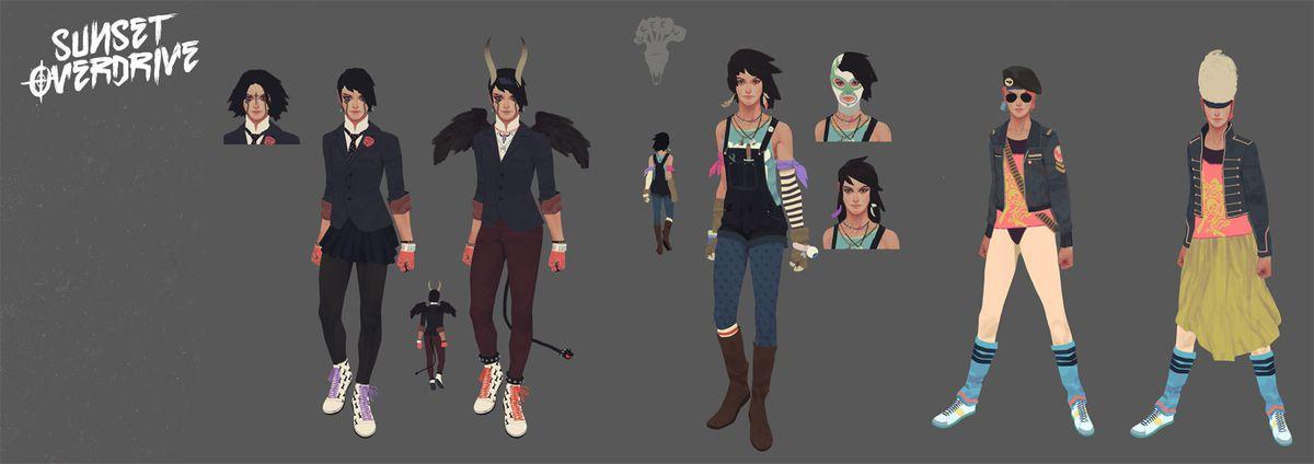 Sunset Overdrive character customization options