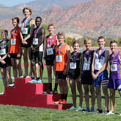Winners in the boys 2A high school state cross-country championships in Cedar City on Wednesday, Oct. 21, 2020.