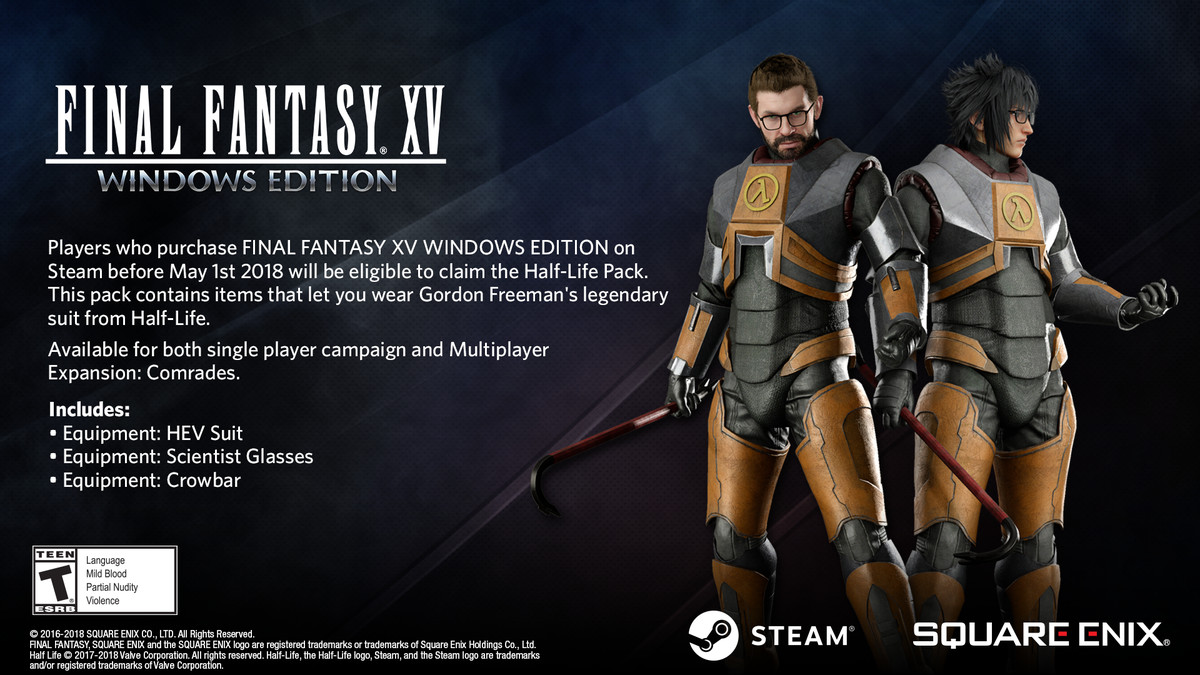 You can dress up as Half-Life's Gordon Freeman in FFXV on PC - The Verge