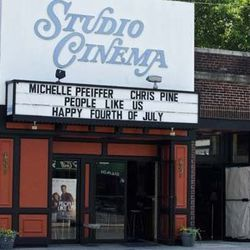 Cafe Burrito is adjacent to Belmont's Studio Cinema.
