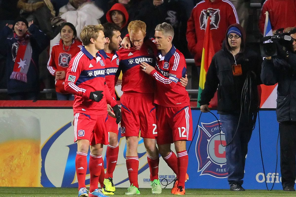 The Ginger Ninja Strikes! Jeff Larentowicz scored the lone goal for the Chicago Fire in their 1-0 win over the Columbus Crew