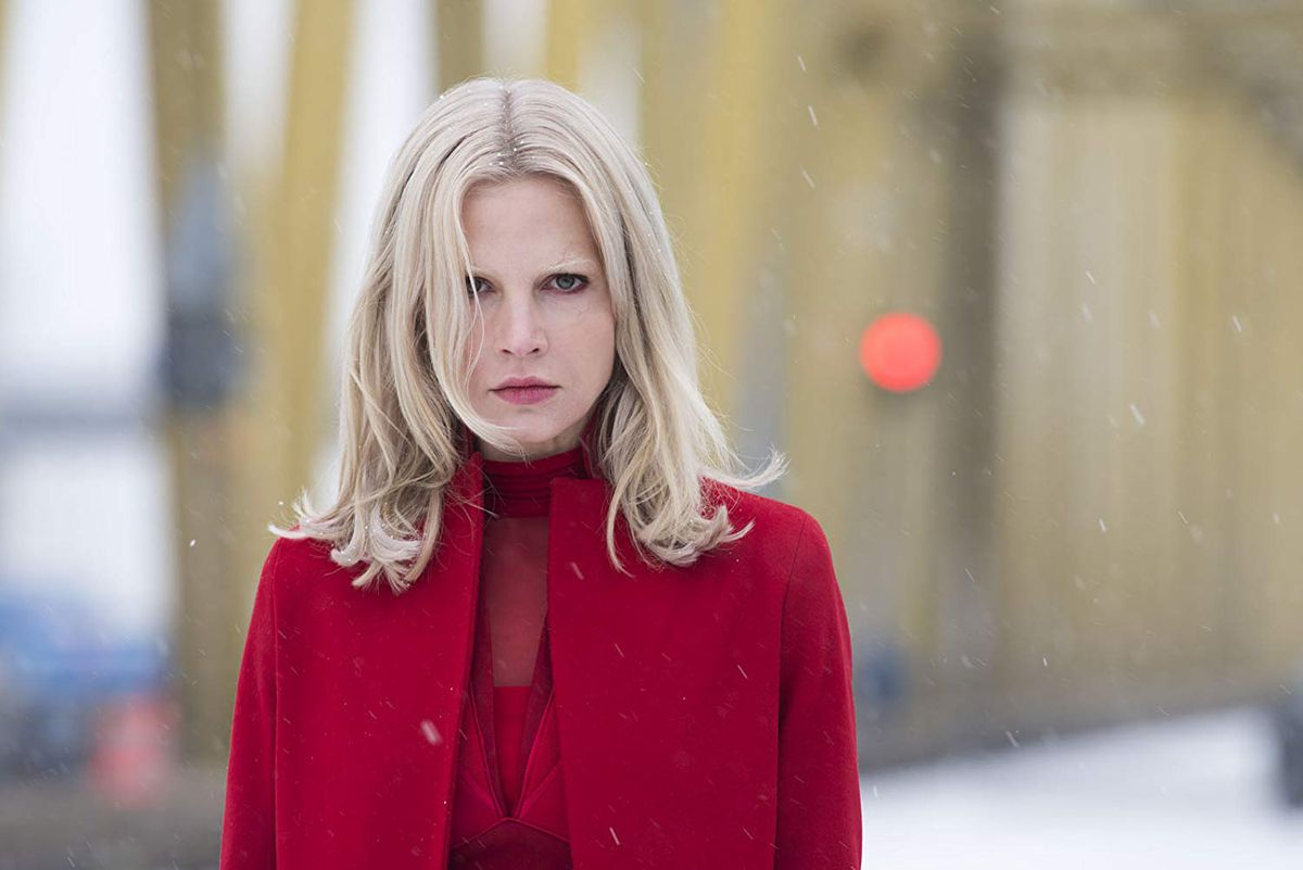 Sylvia Hoeks as Lisbeth's sister Camilla in The Girl in the Spider's Web.