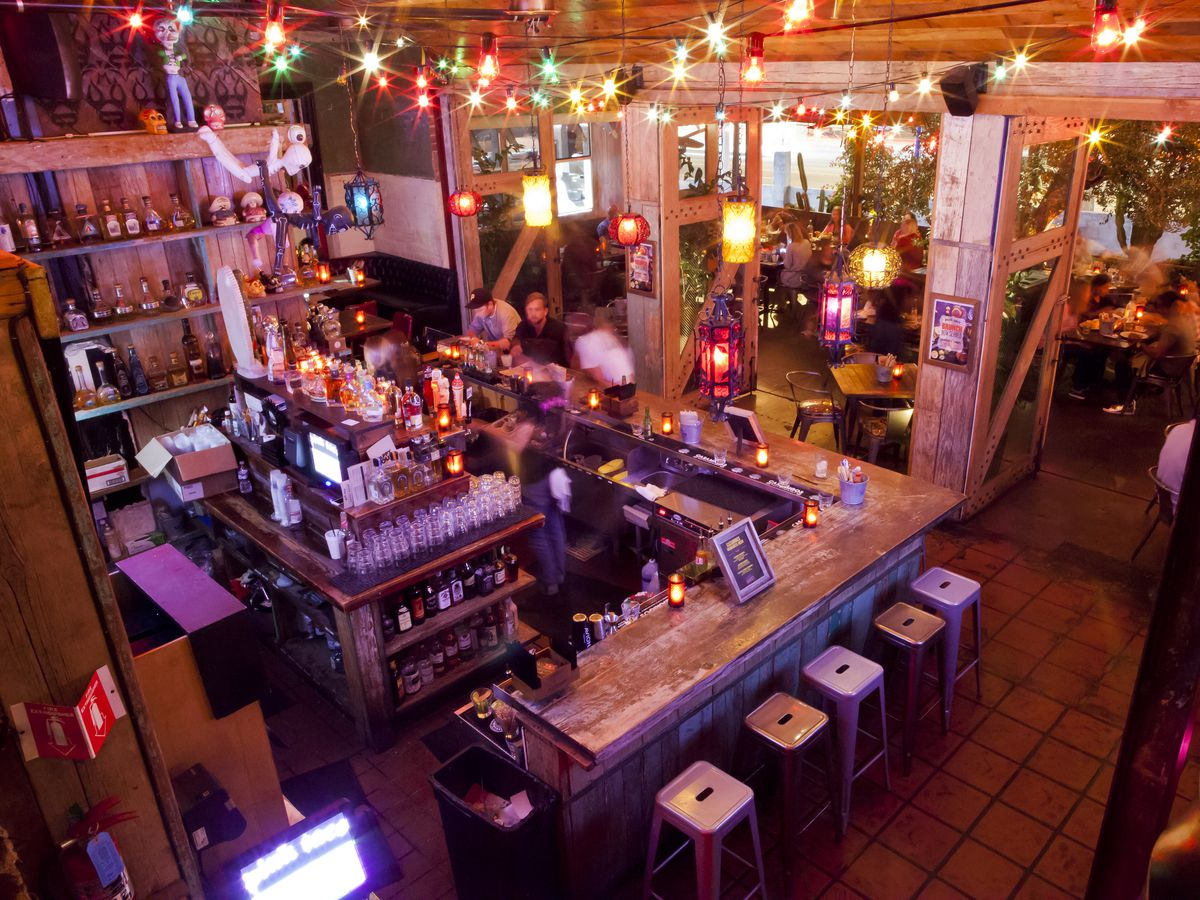 The interior of Pink Taco.