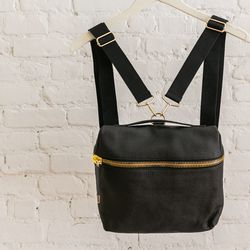 Babel Fair leather square backpack, $319