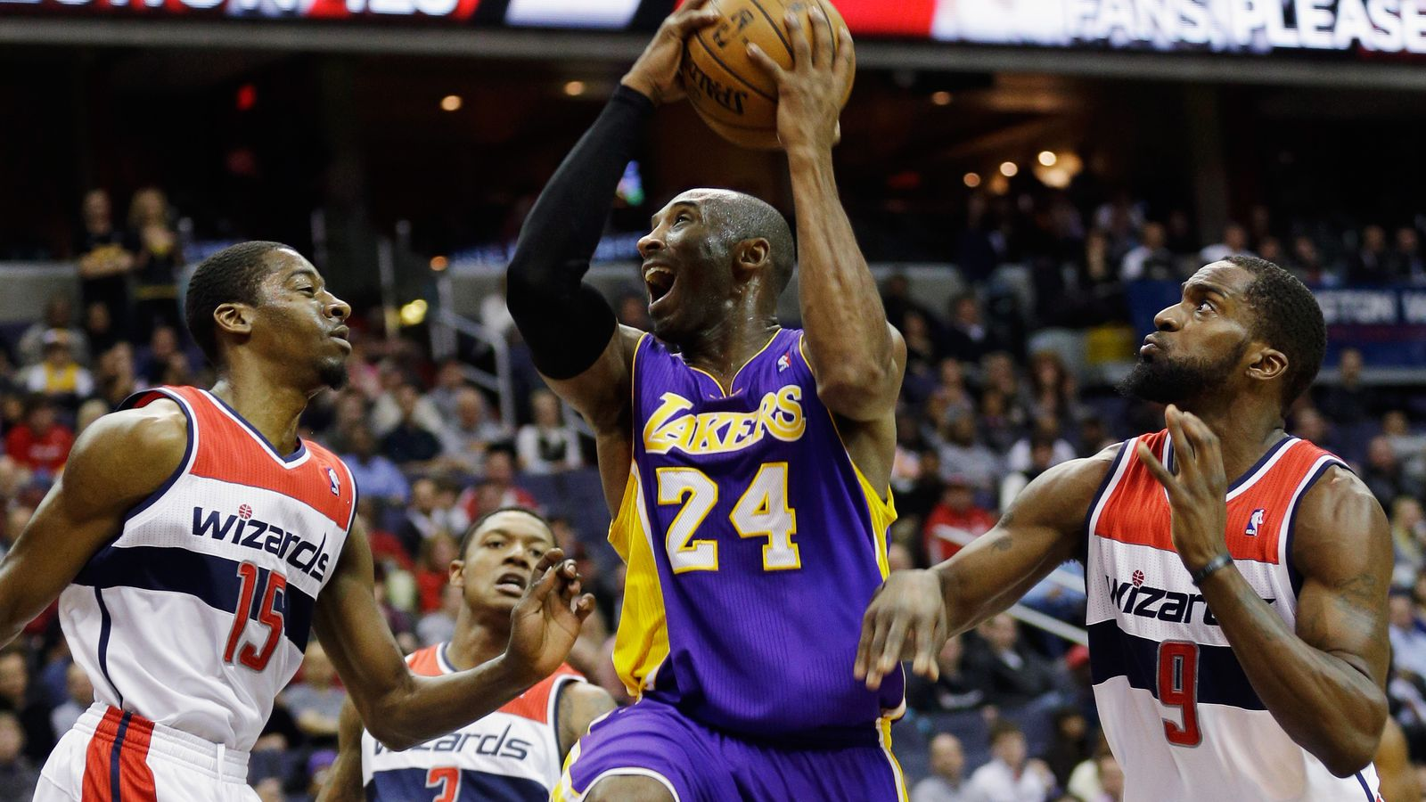 Wizards vs. Lakers: A close first half, but L.A. pulls ...