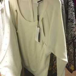 Ivory sparkle pullover, $95