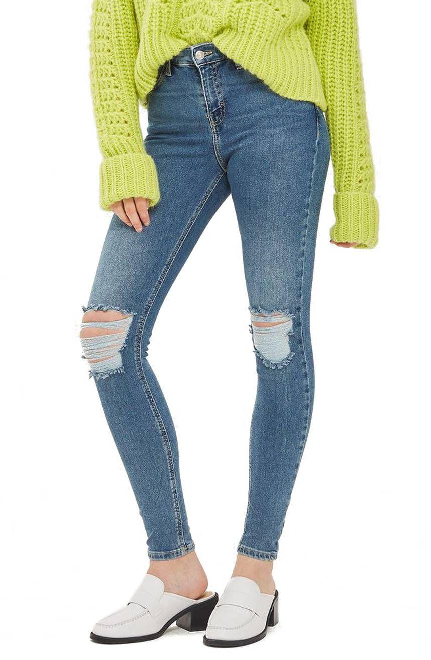 Topshop Jamie Rip High Waist Skinny Jeans, $45 (was $75)