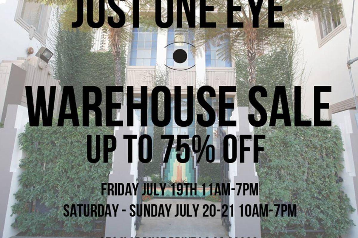 Flyer via Just One Eye